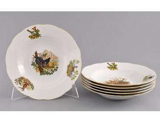 Набор тарелок глубоких 6шт 23см Leander Мэри-Энн Охота декор 0363