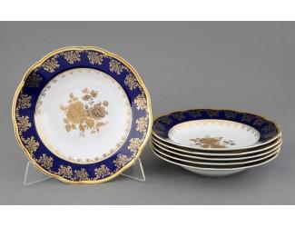 Набор тарелок глубоких 6шт 23см Leander Мэри-Энн Золотая роза декор 0431