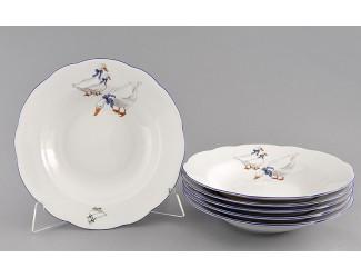 Набор тарелок глубоких 6шт 23см Leander Мэри-Энн Гуси декор 0807