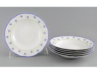 Набор тарелок глубоких 6шт 23см Leander Мэри-Энн Синие цветы декор 0887