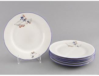 Набор тарелок десертных 6шт 17см Leander Мэри-Энн Гуси декор 0807