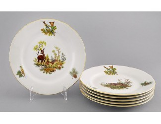 Набор тарелок мелких 6шт 19см Leander Мэри-Энн Охота декор 0363