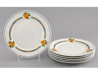 Набор тарелок мелких 6шт 19см Leander Мэри-Энн Фруктовый сад декор 080Н