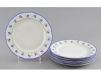 Набор тарелок мелких 6шт 19см Leander Мэри-Энн Синие цветы декор 0887