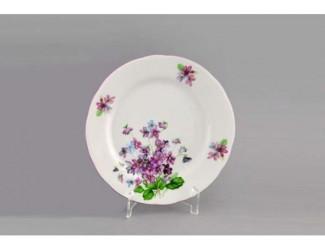 Набор тарелок мелких 6шт 19см Leander Мэри-Энн Лиловые цветы декор 2391