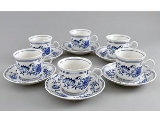 Набор чайных пар на 6 персон 12 предметов 200мл 6шт Leander Мэри-Энн Гжель (Луковый рисунок) декор 0055