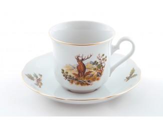 Набор чайных пар на 6 персон 12 предметов. Leander Мэри-Энн Охота декор 0363