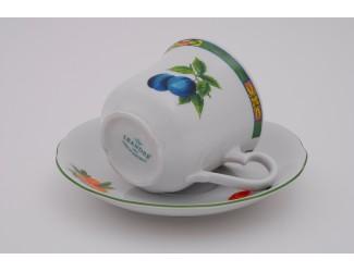 Набор чайных пар на 6 персон 12 предметов 0,20л Leander Мэри-Энн Фруктовый сад декор 080H