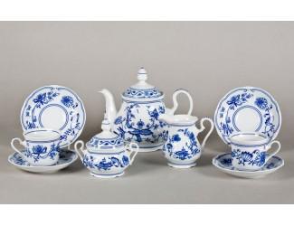 Сервиз чайный 15 предметов 6 персон Leander Мэри-Энн Гжель (Луковый рисунок) декор 0055