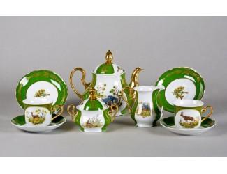 Сервиз чайный 15 предметов 6 персон Leander Мэри-Энн Царская охота