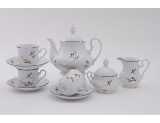 Сервиз чайный 27 предметов 12 персон Leander Мэри-Энн Гуси декор 0807
