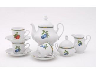 Сервиз чайный 15 предметов 6 персон Leander Мэри-Энн Фруктовый сад декор 080Н