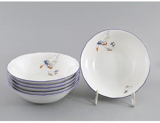 Набор салатников 16см 6шт Leander Мэри-Энн Гуси декор 0807