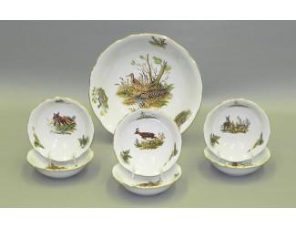 Набор салатников 7 предметов Leander Мэри-Энн Охота декор 0363 03161416-0363