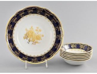 Набор салатников 7 предметов Leander Мэри-Энн Золотая роза декор 0431 03161416-0431