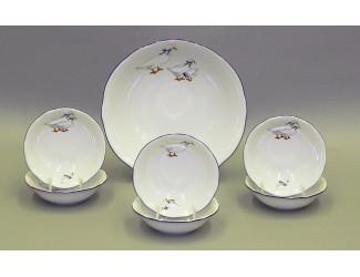 Набор салатников 7 предметов Leander Мэри-Энн Гуси декор 0807