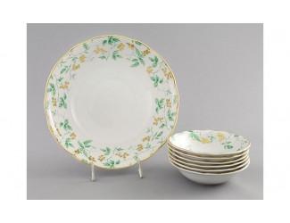 Набор салатников 7 предметов Leander Мэри-Энн Зелёные листья декор 1381