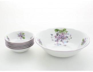 Набор салатников 7 предметов Leander Мэри-Энн Лиловые цветы декор 2391