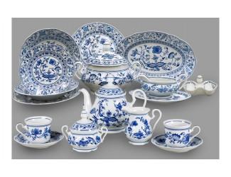 Чайно-столовый сервиз Leander 6 персон 40 предметов Мэри-Энн (Mary-Anne), Луковый рисунок(Гжель)