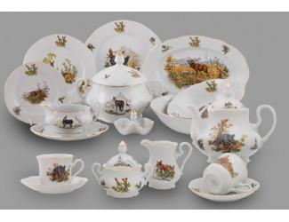 Чайно-столовый сервиз Leander 6 персон 40 предметов Мэри-Энн Охота декор 0363