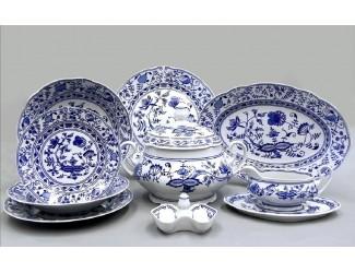 Сервиз столовый 25 предметов 6 персон Leander Мэри-Энн Гжель (Луковый рисунок) декор 0055