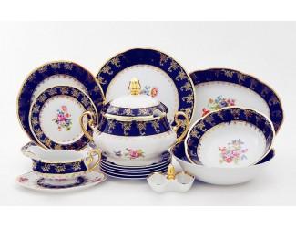 Сервиз столовый 25 предметов 6 персон Leander Мэри-Энн Мелкие цветы (Кобальт) 0086 03162011-0086