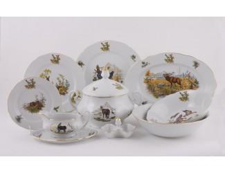 Сервиз столовый 25 предметов 6 персон Leander Мэри-Энн Охота 0363