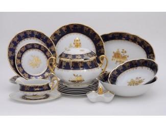 Сервиз столовый 25 предметов 6 персон Leander Мэри-Энн Золотая роза 0431