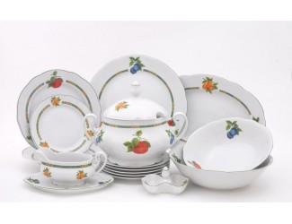 Сервиз столовый 25 предметов 6 персон Leander Мэри-Энн Фруктовый сад декор 080H