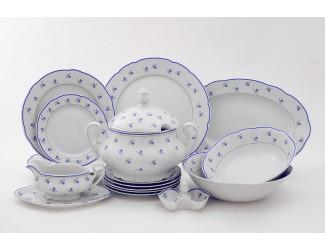 Сервиз столовый 25 предметов 6 персон Leander Мэри-Энн Синие цветы 0887