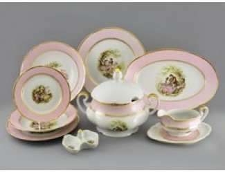 Сервиз столовый 25 предметов 6 персон Leander Мэри-Энн Свидание розовый 231A