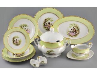 Сервиз столовый 25 предметов 6 персон Leander Мэри-Энн Свидание салатовый 231C 03162011-231C