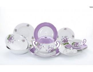 Сервиз столовый 25 предметов 6 персон Leander Мэри-Энн Лиловые цветы 2391