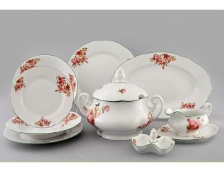 Сервиз столовый 25 предметов 6 персон Leander Мэри-Энн Красные розы 2405 03162011-2405