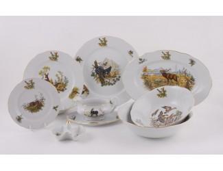 Сервиз столовый на 6 персон 24 предмета Leander Мэри-Энн Охота 0363