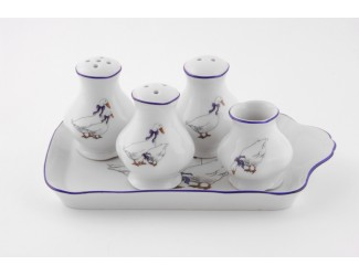 Набор для приправ 5 предметов Leander Мэри-Энн Гуси декор 0807