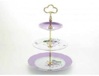 Горка 3 уровня Leander Мэри-Энн Лиловые цветы декор 2391 03196033-2391