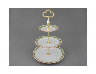 Этажерка 3-х ярусная 30 см Leander Мэри-Энн, Новогодняя коллекция 03196033-2574