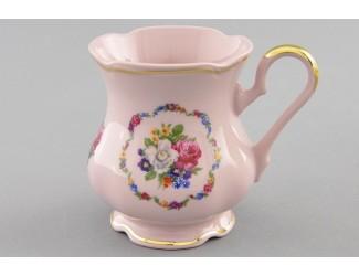 Кружка Leander 0,25л Розовый фарфор Полевые цветы