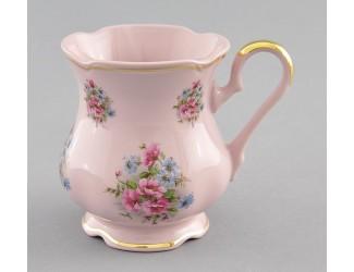 Кружка Leander 0,25л Розовый фарфор Розовые цветы