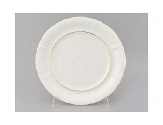 Блюдо круглое мелкое 32см Leander Соната Отводка золото декор 1139