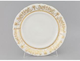 Блюдо круглое мелкое 32см Leander Соната Золотой орнамент декор 1373