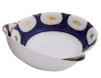 Набор для торта 7 предметов Leander Соната Золотой цветок кобальт декор 0443 07161017-0443