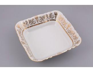 Салатник квадратный 17см Leander Соната Золотой орнамент декор 1373