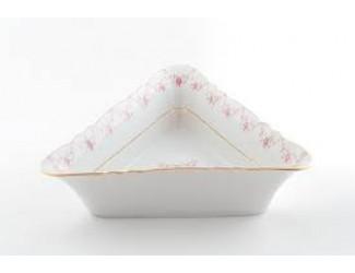 Салатник треугольный 17см Leander Соната Мелкие цветы декор 0158