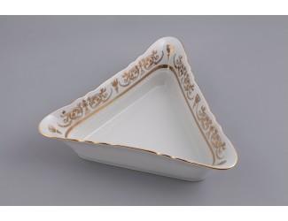 Салатник треугольный 17см Leander Соната Золотой орнамент декор 1373