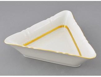Салатник треугольный 21см Leander Соната Золотая лента декор 1239
