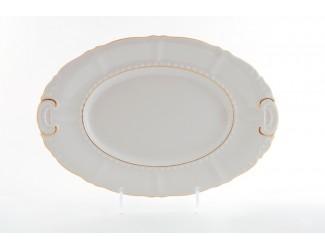Блюдо овальное 32см Leander Соната Отводка золото декор 1139