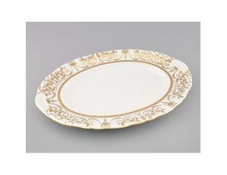 Блюдо овальное 36см Leander Соната Золотой орнамент декор 1373 07111513-1373