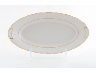 Блюдо овальное 39см Leander Соната Отводка золото декор 1139 07111515-1139